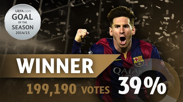 Messi nhận giải bàn thắng đẹp nhất mùa giải 2014 - 2015