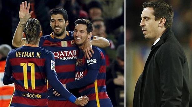 Thua thảm Barca, Gary Neville quyết không từ chức