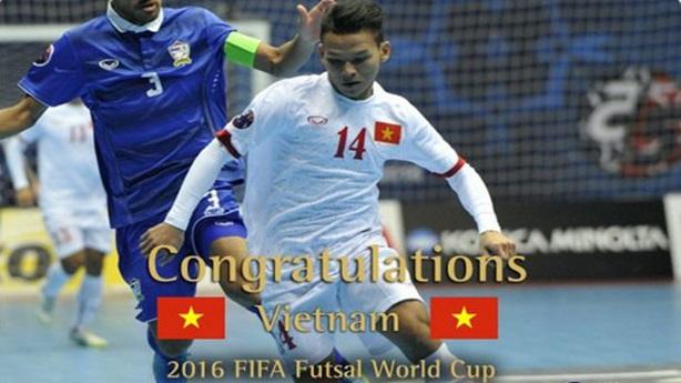 FIFA chúc mừng ĐT futsal Việt Nam giành vé World Cup