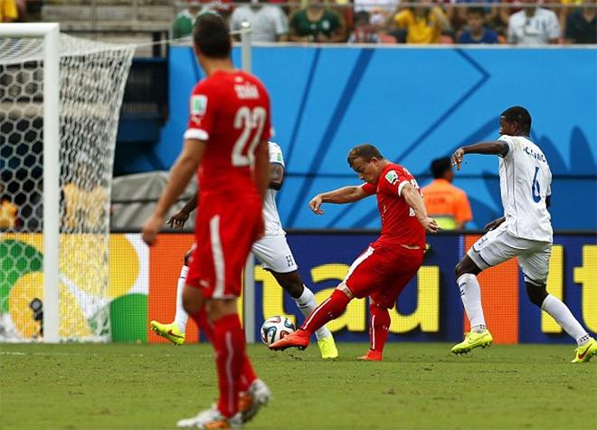 Video Honduras 0-3 Thụy sĩ: Shaqiri lập hat-trick